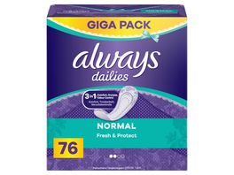 always Slipeinlage Fresh Protect Normal Gigapack 76 Stueck
