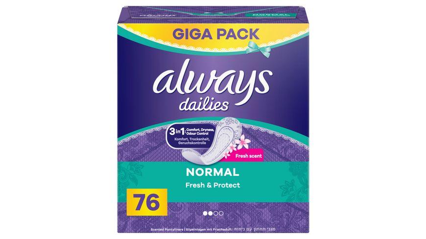 Always Fresh Protect Normal Fresh Slipeinlagen 76 Stueck