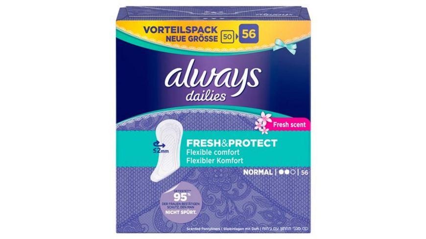 always Slipeinlage Fresh Protect Normal Fresh BigPack 56 Stueck