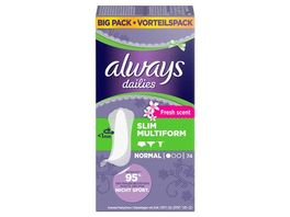 always Slipeinlage Slim Multiform Fresh BigPack 74 Stueck