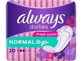 always Slipeinlage Singles to go mit Geruchsneutralisierung 20 Stueck