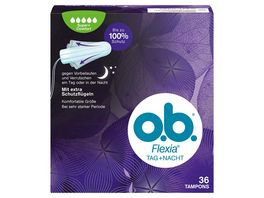 o b Tampons Flexia Tag Nacht Super Plus 36 Stueck