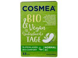 Cosmea BIO Slipeinlagen VEGAN Normal ohne Duft 33 Stueck