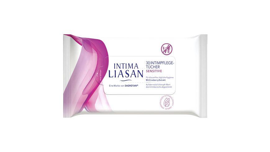 SAGROTAN Intima Liasan Intimpflege-Tücher  Sensitive 20+10 Stück