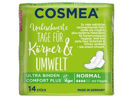 Cosmea Comfort Plus Ultra Binden Geruchsschutz Normal mit Fluegeln 14 Stueck