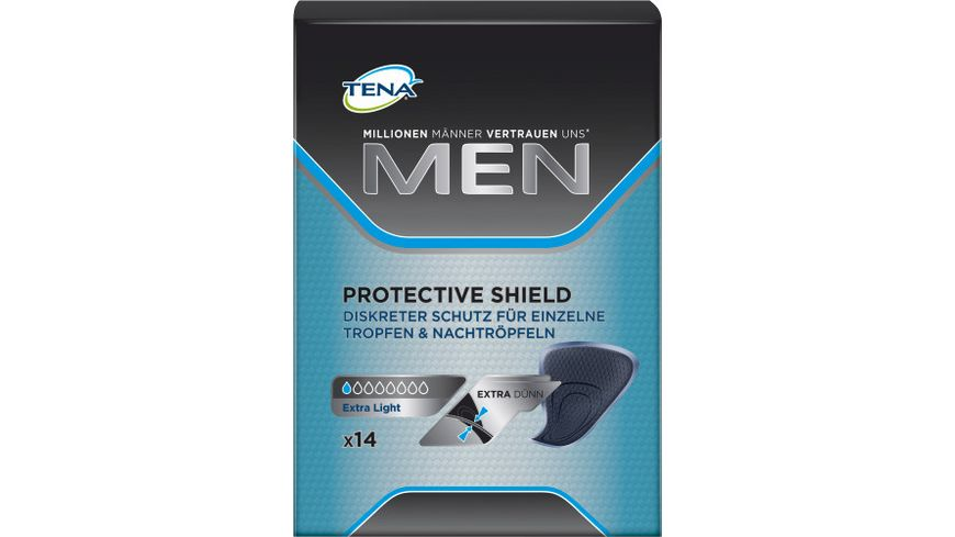 TENA FOR MEN Extra Duenn Hygieneeinlagen 14 Stueck