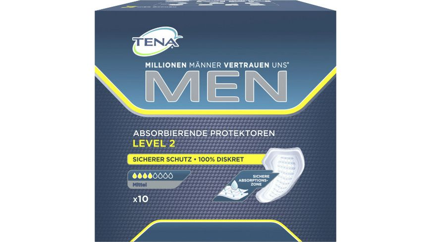 TENA FOR MEN Level 2 Hygieneeinlagen 10 Stueck
