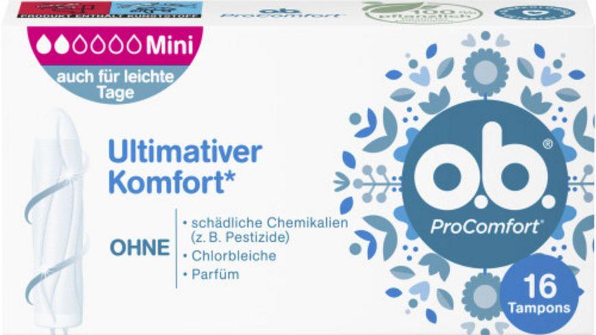 o b Tampons ProComfort Mini 16 Stueck