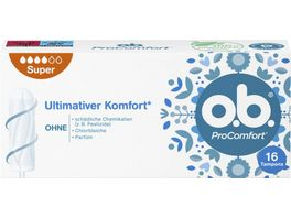 o b Tampons ProComfort Super