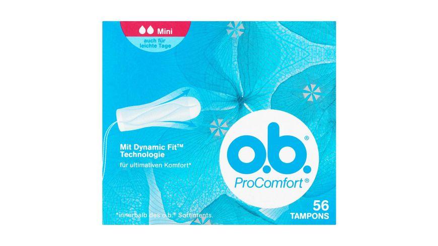 o b Tampons ProComfort Mini 56 Stueck