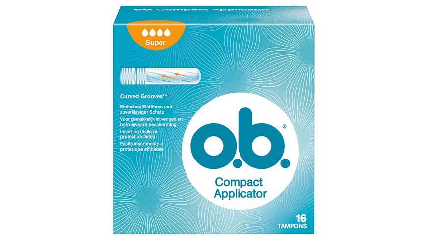 o b Tampons Compact Applicator Super 16 Stueck