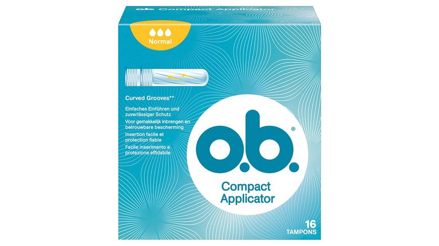 o b Tampons Compact Applicator Normal 16 Stueck