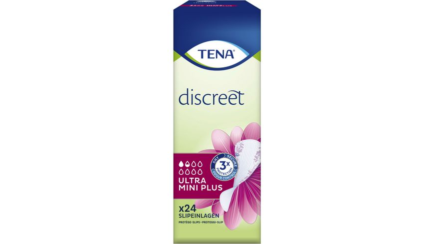TENA LADY Ultra Mini Plus Hygieneeinlagen 24 Stueck