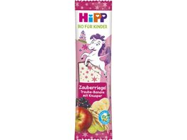 HiPP Bio fuer Kinder Zauber Riegel 30g Traube Banane mit Knusper Kinder ab 3 Jahren