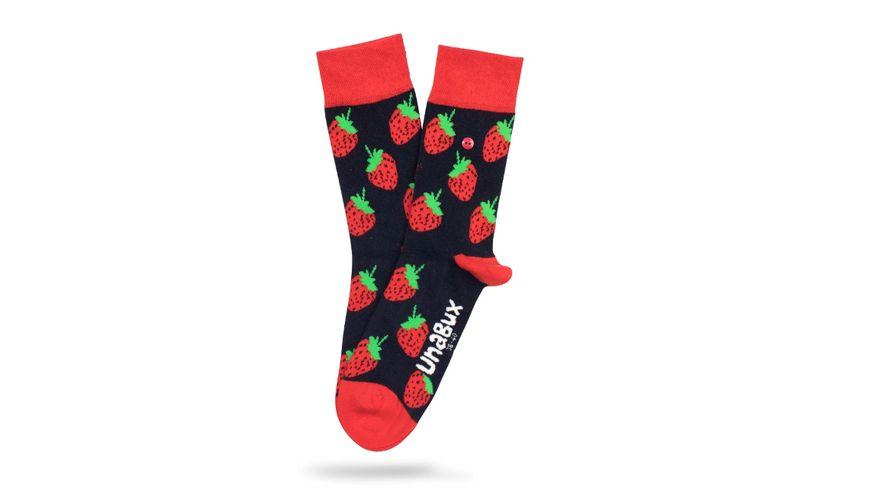 Unabux Unisex Socken Strawberry