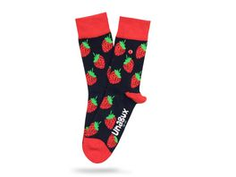 Unabux Unisex Socken Strawberry