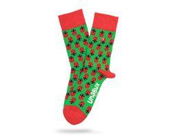Unabux Unisex Socken Ladybug