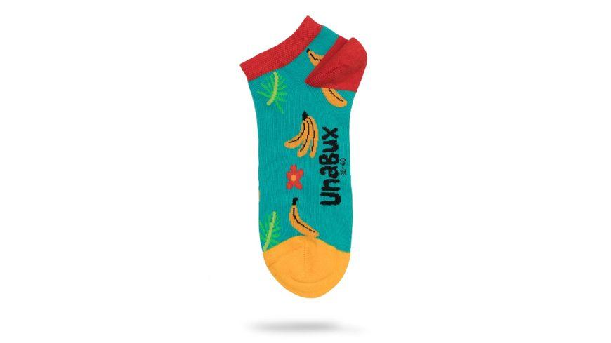 Unabux Unisex Sneaker Socken Fruit Invasion 2er Pack