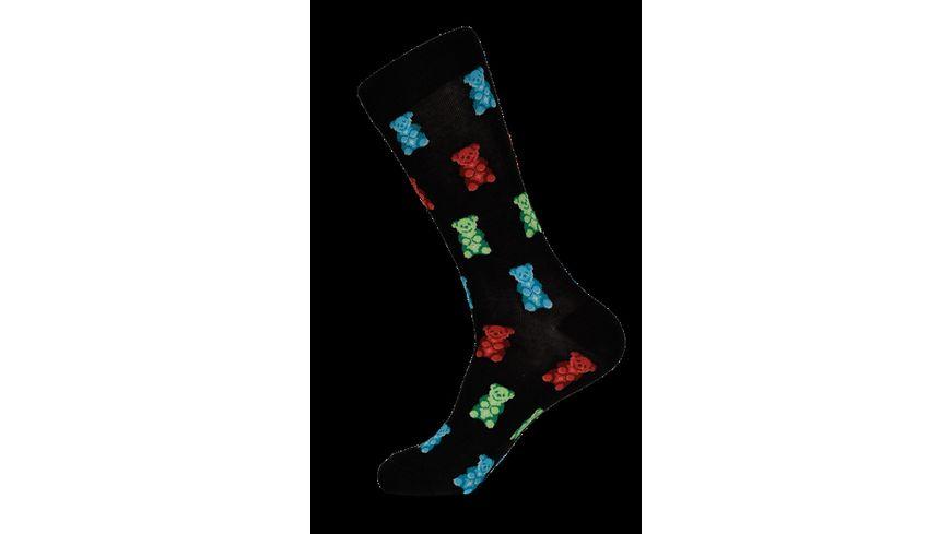 HOTSOX Herren Socken Gummy Bears schwarz