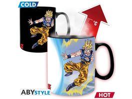Dragon Ball Goku VS Buu Thermoeffekt Tasse