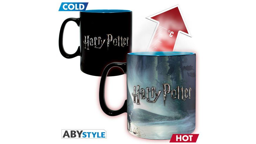 Harry Potter Patronus Thermoeffekt Tasse