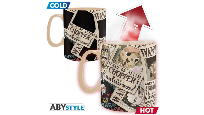 One Piece Wanted Thermoeffekttasse 460ml