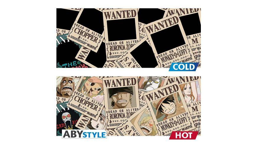 One Piece Wanted Thermoeffekt Tasse
