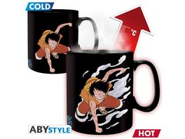 One Piece Luffy Ace Thermoeffekt Tasse