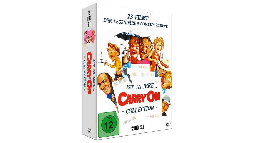 Ist ja irre Carry On Deluxe Collection 12 DVD Digipak mit 23 Filmen limitiert