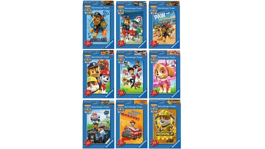 Ravensburger Puzzle Paw Patrol Mini 54 Teile 1 Stueck sortiert