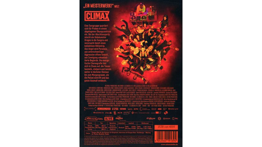 Climax Limited Mediabook Edition DVD