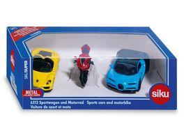 SIKU 6313 Super Sportwagen und Motorrad