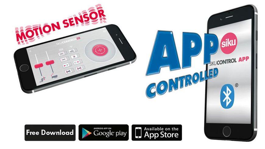 SIKU 6795 Control 32 John Deere 7310R mit Frontlader und Bluetooth Fernsteuermodul