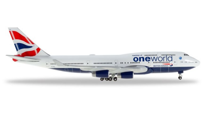 Herpa 531924 Wings British Airways Boeing 747 400 OneWorld