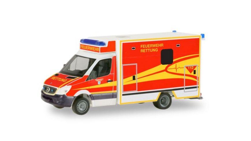 Herpa 094214 Mercedes Benz Sprinter Fahrtec RTW Feuerwehr Ingolstadt