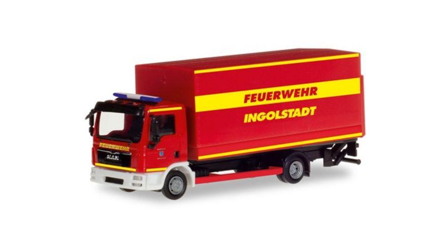 """Herpa 094221 - MAN TGL Planen-LKW mit Ladebordwand """"Feuerwehr Ingolstadt"""""""