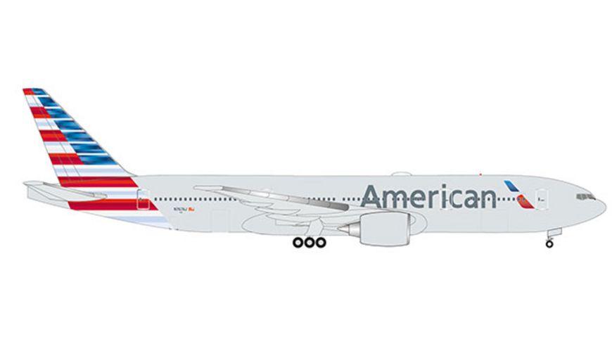 Herpa 532815 Wings American Airlines Boeing 777 200ER