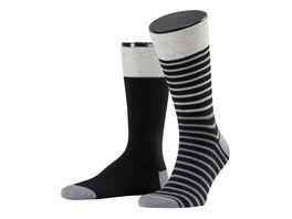 ESPRIT Herrensocken Small Stripe 2er Pack