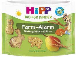 HiPP Bio fuer Kinder Knabberprodukte Ella Eichhoernchens FARM ALARM Dinkelgebaeck mit Birne 45g Enthaelt ca 4 5 Portionen fuer Kinder ab 3 Jahren