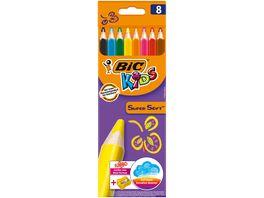 BiC Dreikant Buntstifte Supersoft Jumbo Spitzer 8er
