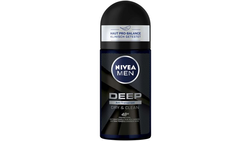 NIVEA MEN Deo Roll On Deep Dry Clean Anti Transpirant