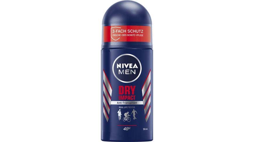 NIVEA MEN Deo Roll On Dry Impact Anti Transpirant