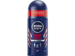 NIVEA MEN Deo Roll On Dry Impact Anti Transpirant