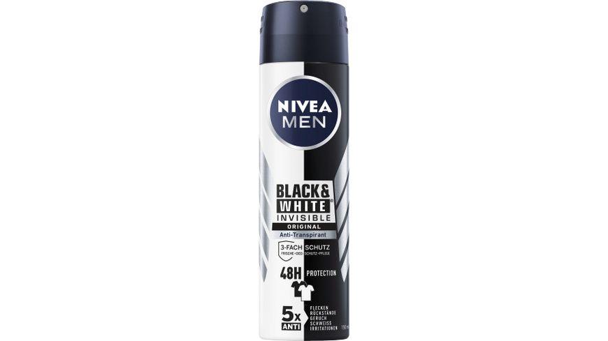 NIVEA MEN Deo Spray Invisible for Black White Original Anti Transpirant