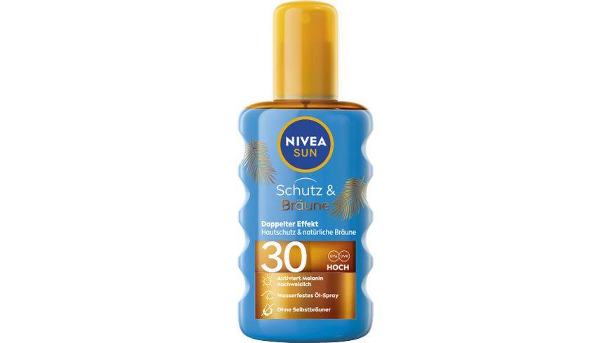 NIVEA sun Schutz & Bräune Sonnenöl LSF30