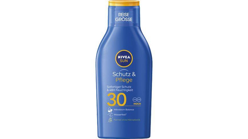 NIVEA sun Schutz Pflege Sonnenmilch LSF30 Reisegroesse