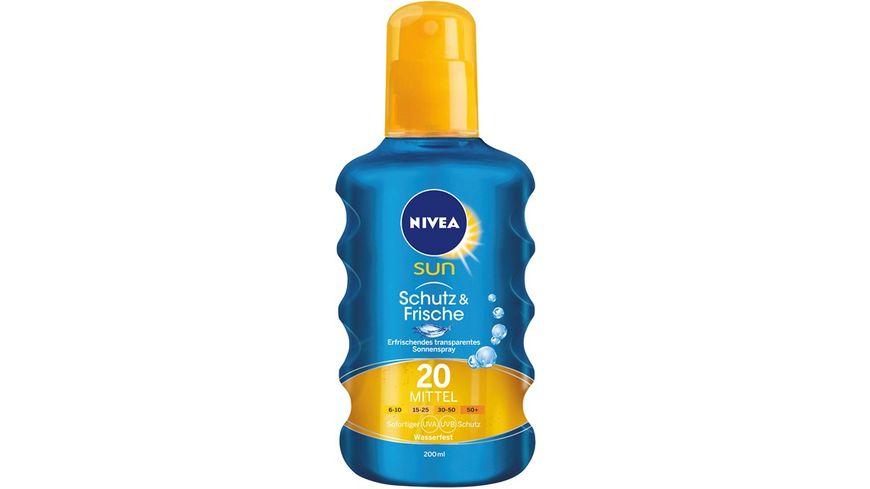 NIVEA sun Schutz Frische Transparentes Sonnenspray LSF20