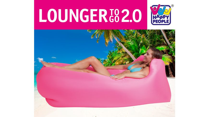 Happy People Lounger to go 2 0 pink