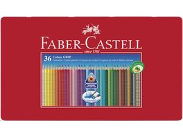 FABER CASTELL Farbstift Grip Colour 36er Metalletui