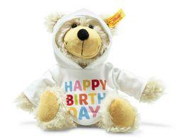 Steiff Charly Happy Birthday Schlenker Teddybaer mit Kapuzenpullover 23 cm